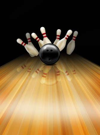 frappe: Gr�ve de bowling.