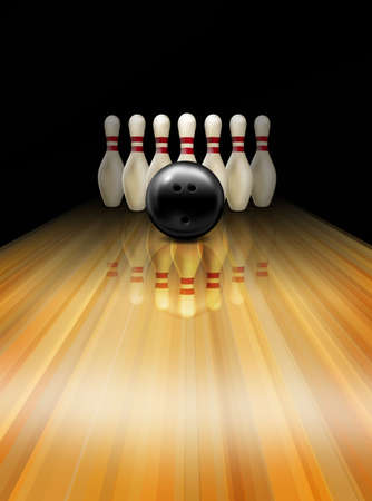 Bowling strike photo