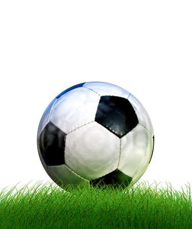 Football on grass Stock Photo - 4304584