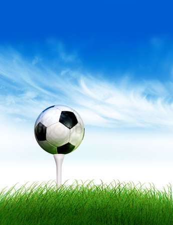 source of iron: Football golf Stock Photo