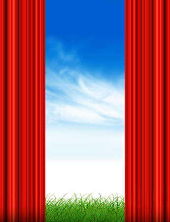 Red drapes photo