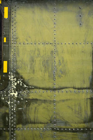 battle plane: placa de metal Foto de archivo