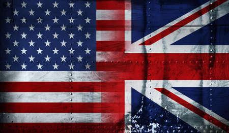 bandiera inglese: Regno Unito, Stati Uniti d'America BANDIERA Archivio Fotografico