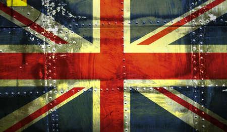 gewerkschaft: Grunge Union Jack Flagge Lizenzfreie Bilder