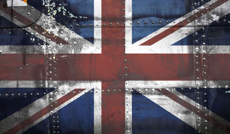 Grunge Union Jack Flag Stock Photo