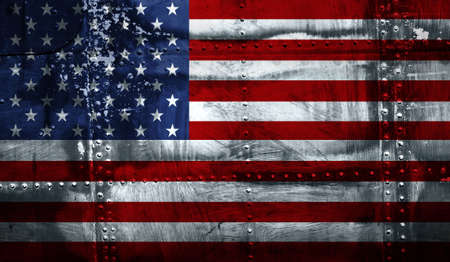 west usa: Grunge American flag Stock Photo