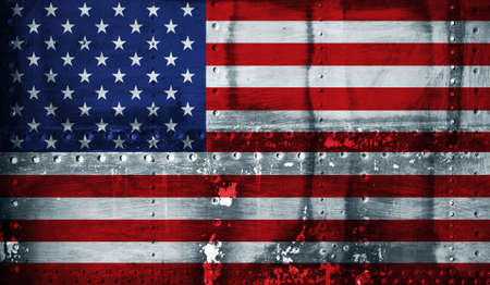 Grunge American flag photo