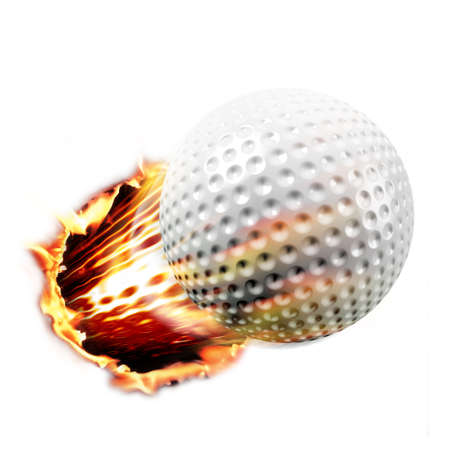 Golf through fire Stock Photo - 4353522