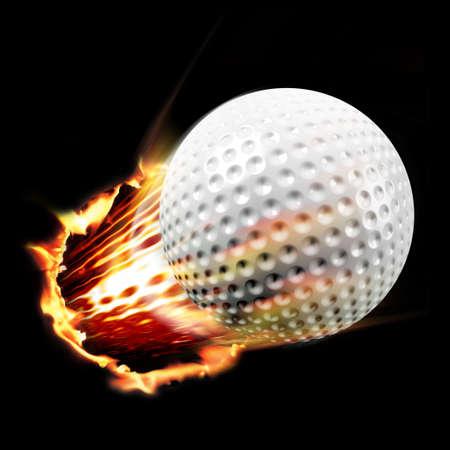 Golf through fire Stock Photo - 4353523