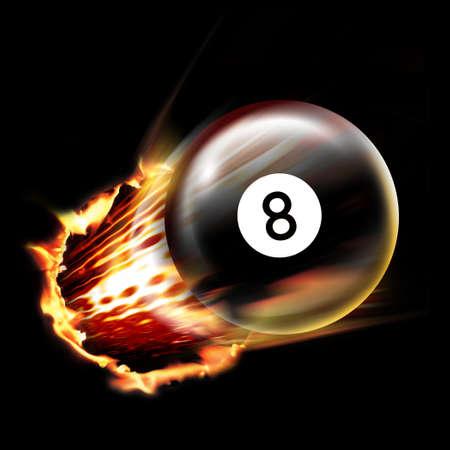 eight ball: Pool ball shot Stock Photo