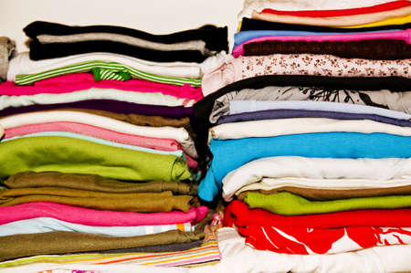 Folded clothes photo