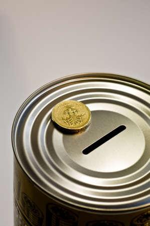 Tin money box Stock Photo - 4379840