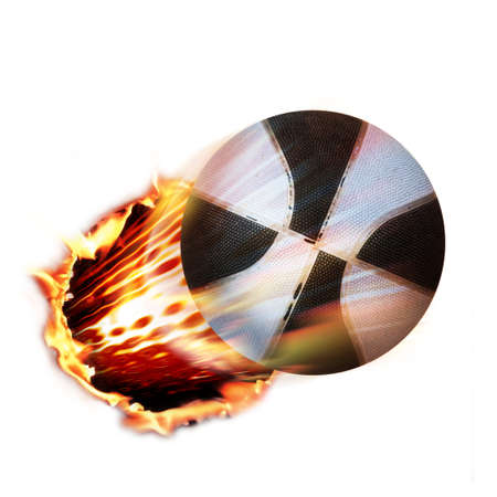 Basket ball flames Stock Photo - 4379845