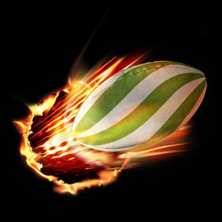pelota rugby: Pelota de rugby llamas