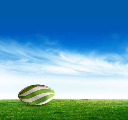 plain stitch: Rugby ball Stock Photo