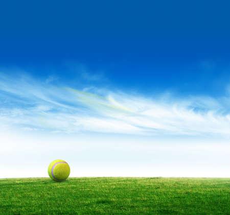 wimbledon: Tennis ball Stock Photo