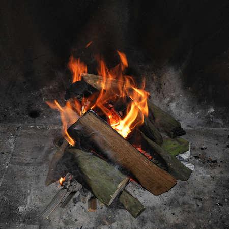 Open fire photo