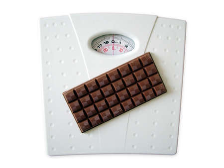 Chocolate on scales photo