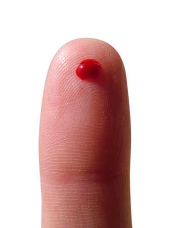 hemorragias: Se pincha el dedo Foto de archivo