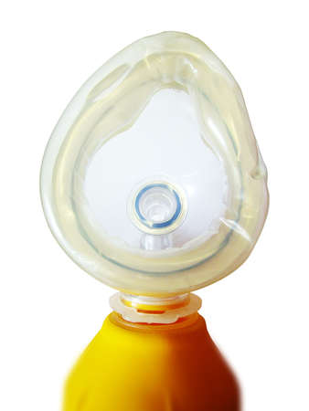 respiratory apparatus: Oxygen tube Stock Photo