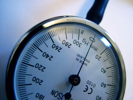 systolic: Blood pressure meter Stock Photo