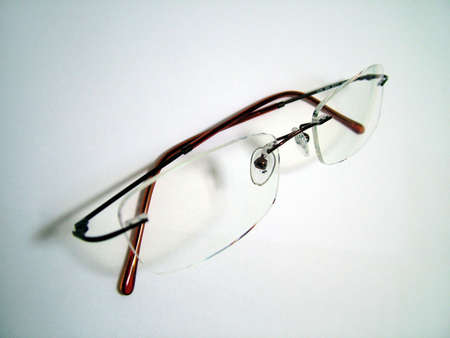 rimless: Spectacles Stock Photo