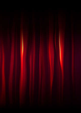 Red curtains Stock Photo - 4692042