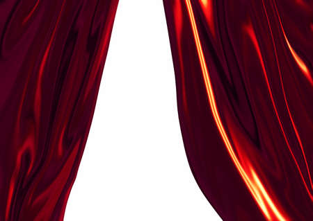 twirling: Red drapes
