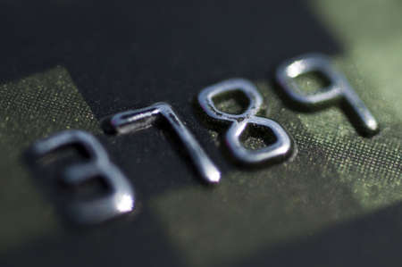 Credit card numbers  Stock Photo - 5001991