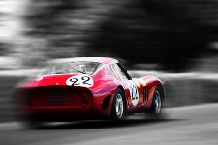 race car driver: Vintage racing car Editorial