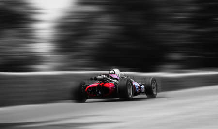 Vintage racing car Stock Photo