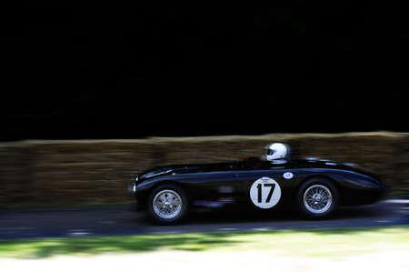 spoked: Vintage racing car Stock Photo