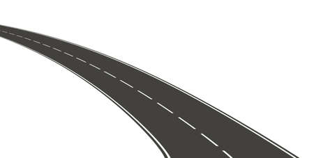 curved lines: Road