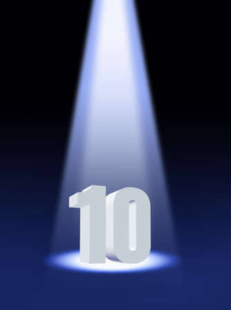 10 years: Number ten Stock Photo