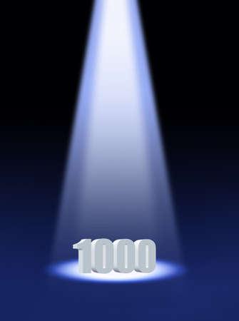 thousand: one thousand Stock Photo