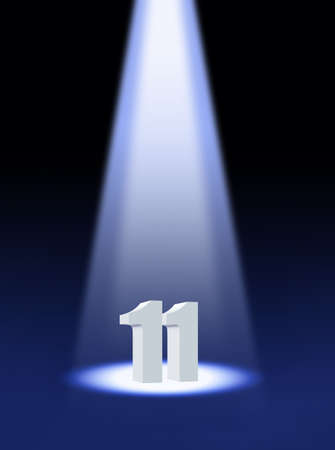 number eleven: eleven Stock Photo
