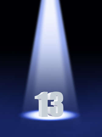 numbers icon: Thirteen Stock Photo