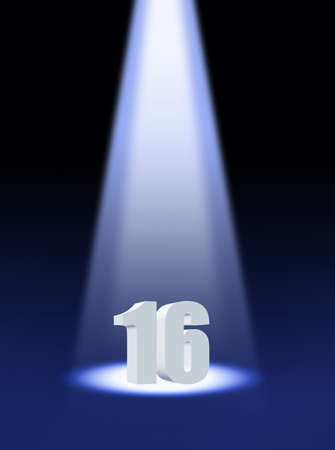 sixteen: Sixteen Stock Photo