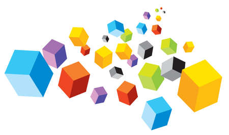 colored play: Cubes