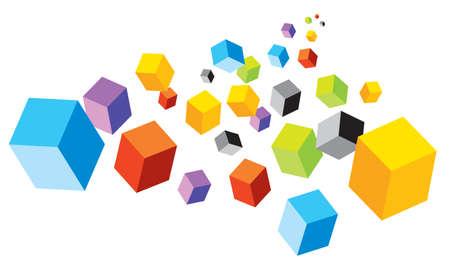 multi coloured: Cubes