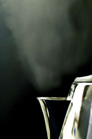 Steaming kettle photo