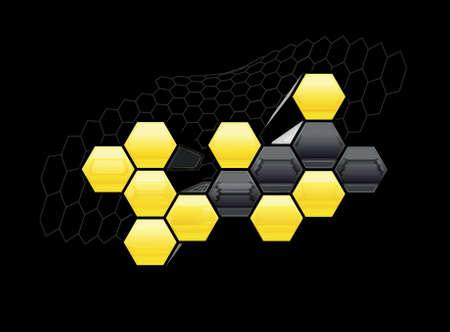 hexagonal: Honeycomb graphic