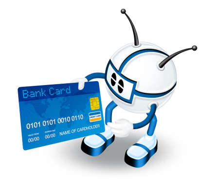 3D Character with credit card Stock Photo - 6262983