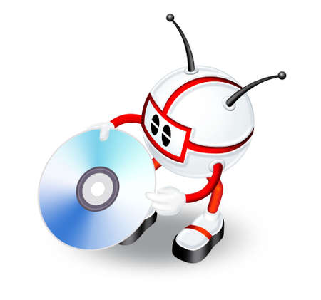 blueray: 3d man with CD