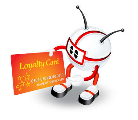 loyalty: 3d man with Loyalty card