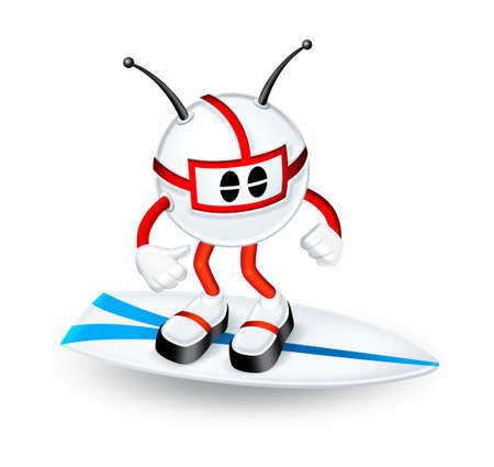 3d Character surfing  photo