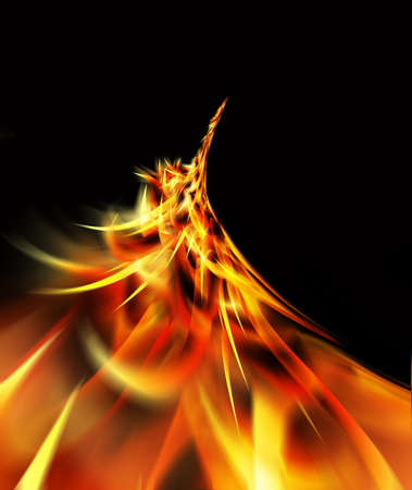 erupt: fire curve Stock Photo