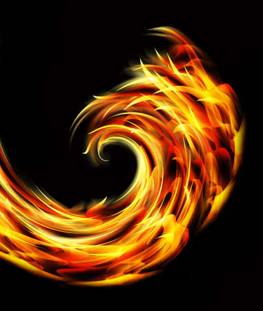 colourful fire: fire twist