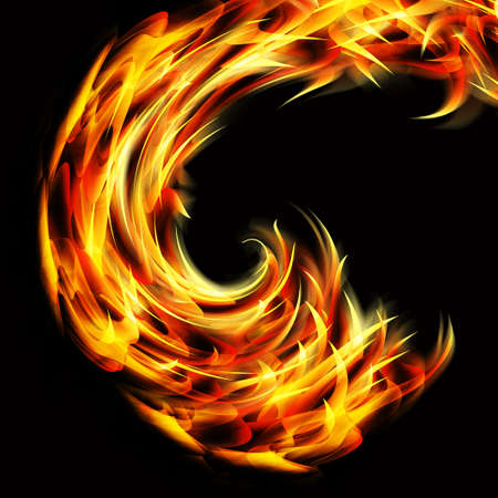 curved flames