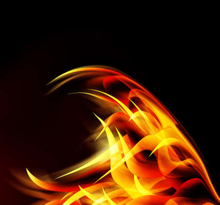 curving: abstract fire
